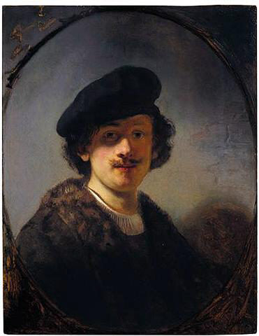 Self-portrait with Shaded Eyes, 1634 - Rembrandt
