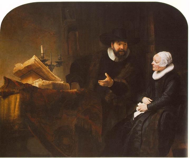 The Mennonite Minister Cornelis Claesz, 1641 - Rembrandt