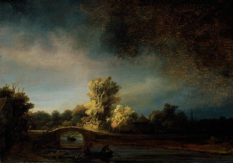 The Stone Bridge - Rembrandt