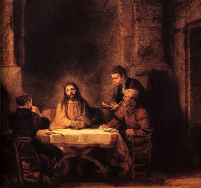 The Supper at Emmaus, 1648 - Rembrandt
