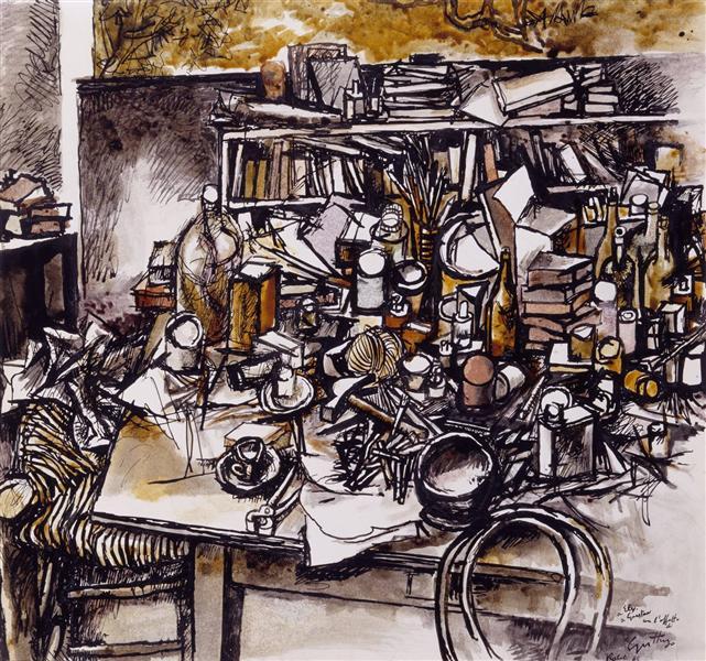 Still Life in the Studio, 1962 - Ренато Гуттузо