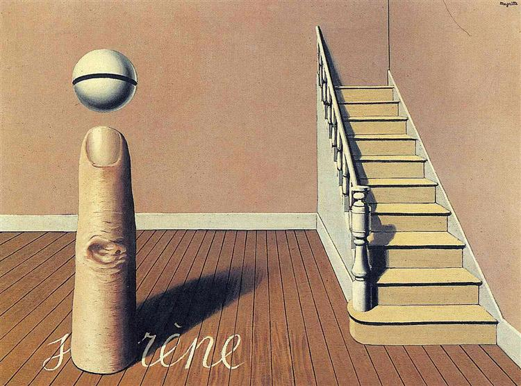 Forbidden literature (The use of the Word), 1936 - René Magritte