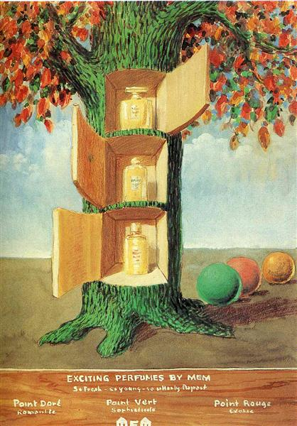 Poster - Exciting perfumes by Mem, 1946 - Rene Magritte