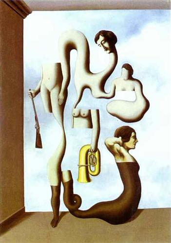 The Acrobat's Exercises - Rene Magritte