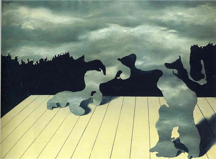 The muscles of the sky, 1927 - Rene Magritte