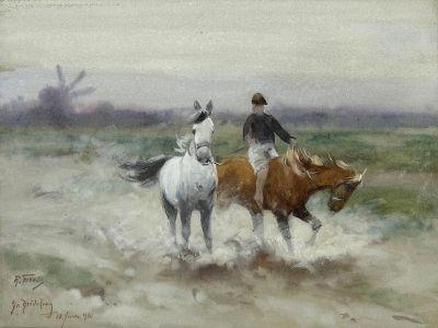 A horseback ride, 1900 - Richard Friese