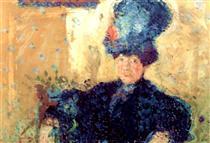 Half-length portrait of Mathilde Schoenberg - Richard Gerstl