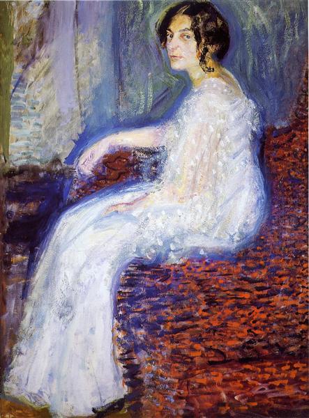 Portrait of  Henryka Cohn, 1908 - Richard Gerstl