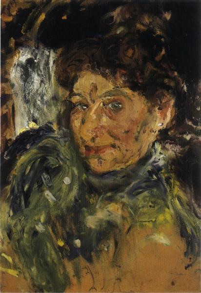 Portrait of Mother, Maria Gerstl, unfinished, 1908 - Richard Gerstl