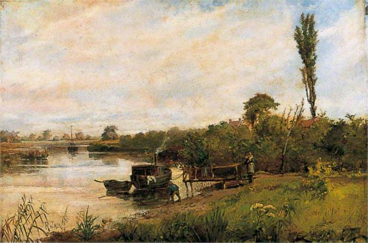 River Scene with Jetty - Ричард Джек