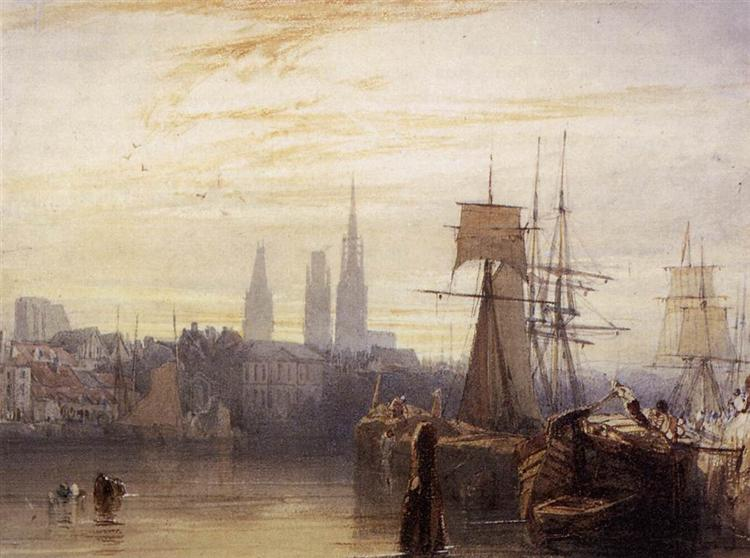 Rouen, 1825 - Richard Parkes Bonington