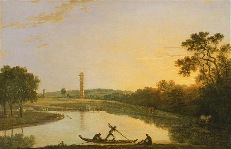 Kew Gardens: The Pagoda and Bridge, 1762 - Ричард Уилсон