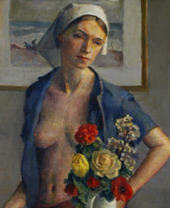 Flowers for Jennifer - Robert Brackman