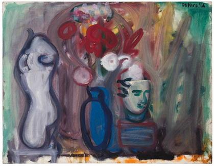 Flowers in a Blue Vase, 1966 - Robert De Niro Sr.