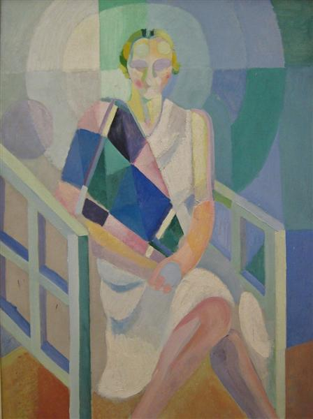 Portrait of Madame Heim, c.1927 - Robert Delaunay