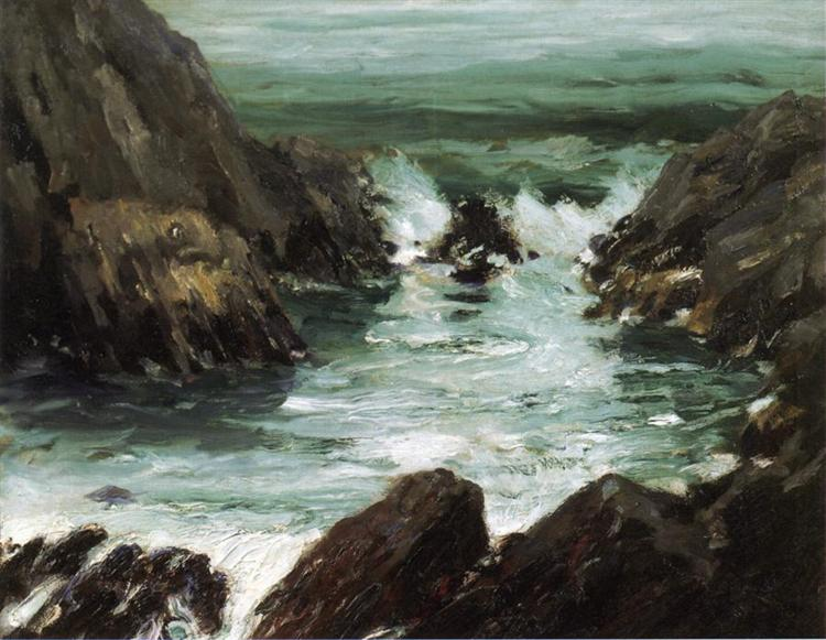 Marine with Rocks, 1909 - Robert Henri