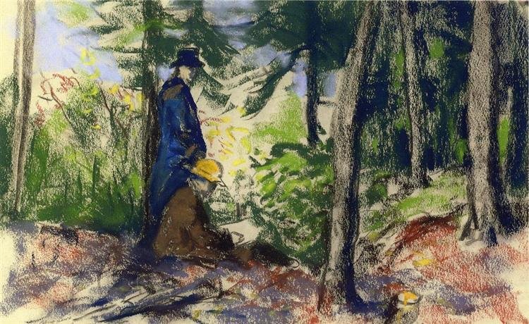 Sketchers in the Woods - Robert Henri