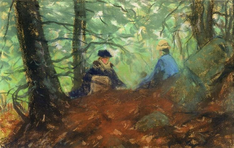Two Girls in the Woods - Robert Henri
