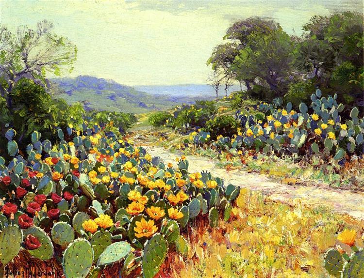 Cactus in Bloom, 1915 - Robert Julian Onderdonk