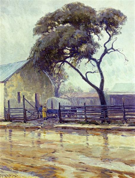 Rainy Day in Bandera - Robert Julian Onderdonk