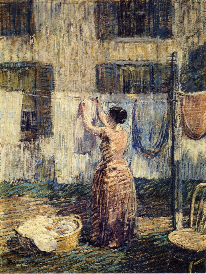 Woman Hanging Out Clothes, 1917