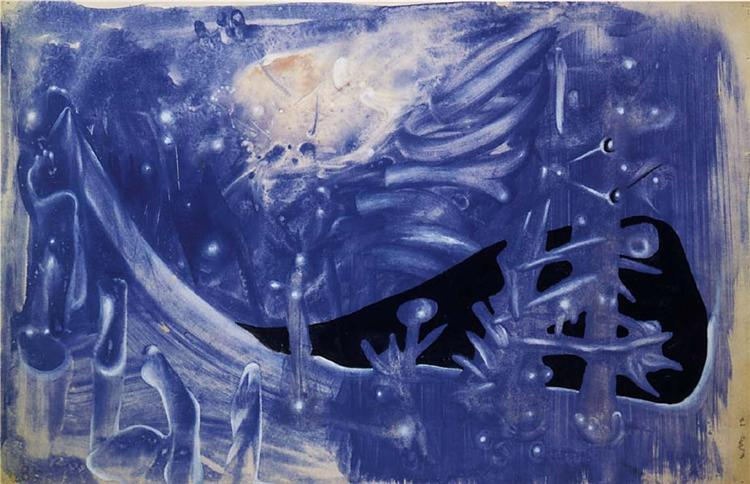 Blue Composition, 1937 - Roberto Matta