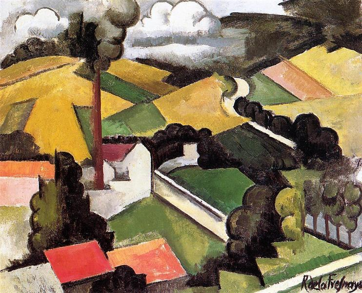 The Factory Chimney, Meulan Landscape, 1912 - Roger de La Fresnaye