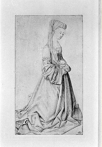 Коленопреклоненная женщина - Рогир ван дер Вейден