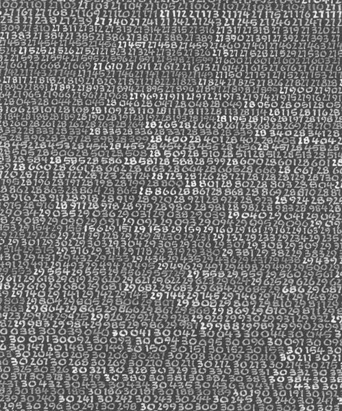1965 / 1 - ∞ / unknown detail of detail - Roman Opalka