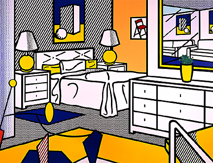 Interior with mobile, 1992 - Roy Lichtenstein