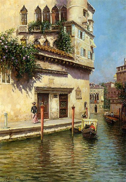 A Venetian Backwater - Rubens Santoro