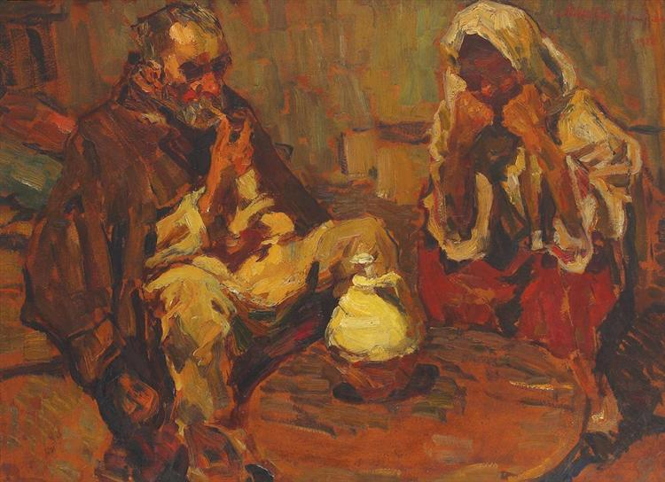 In front of the Bakestone, 1927 - Rudolf Schweitzer-Cumpana