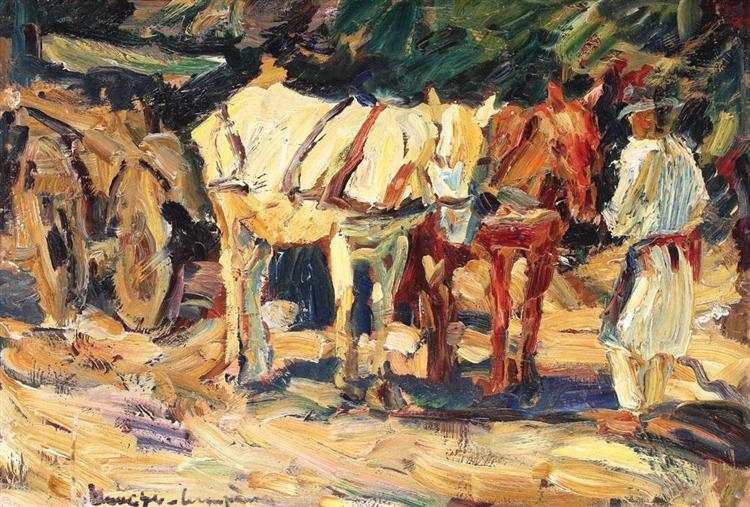 Horses Resting, 1930 - Rudolf Schweitzer-Cumpana