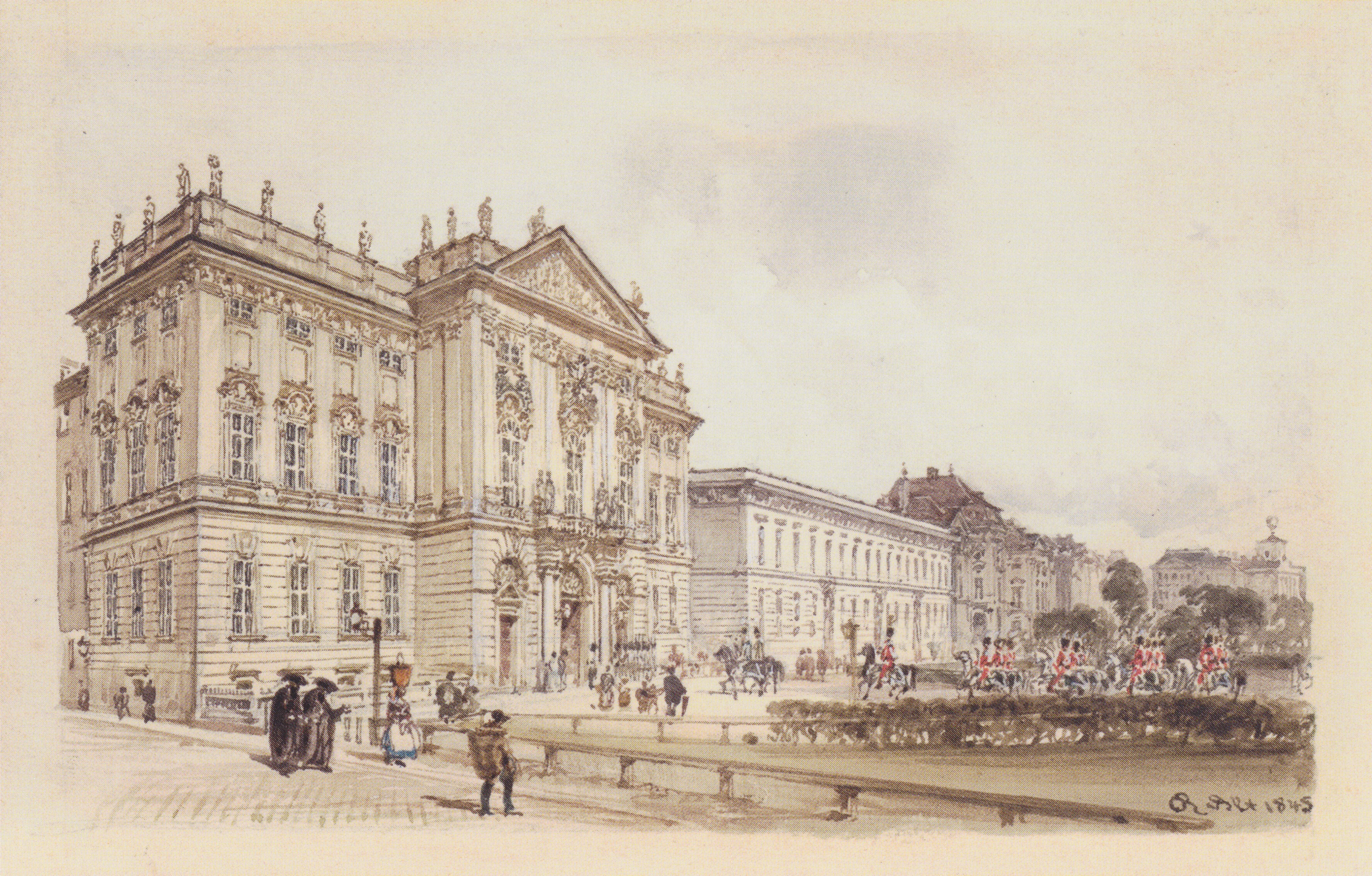Trautson Palace in Vienna, 1845