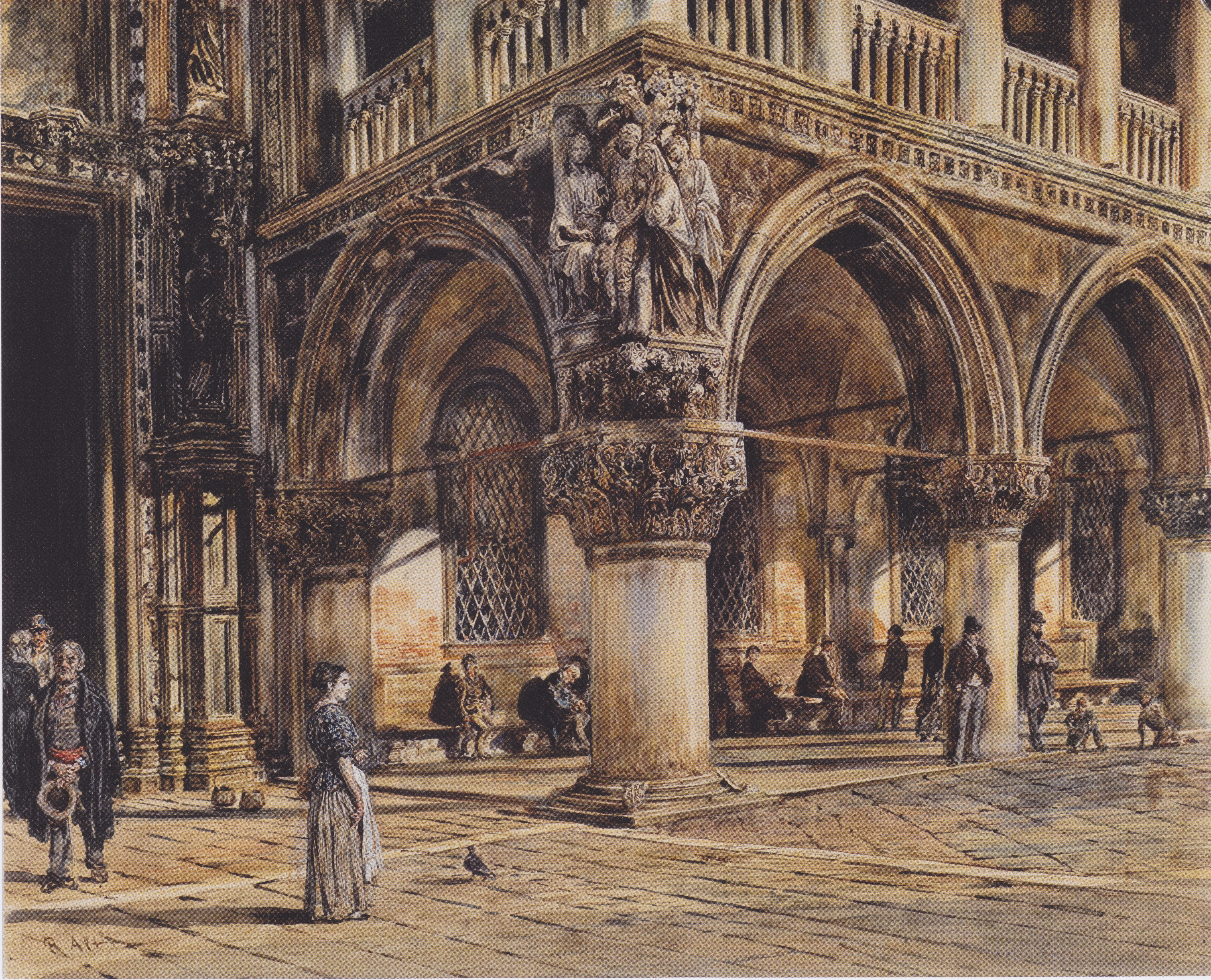 View of the Ducal Palace in Venice, 1874