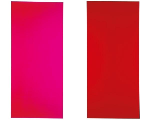 675/73 (Sequenz Kalt Warm – Portrait der Farbe Cerise), 1973 - Rupprecht Geiger