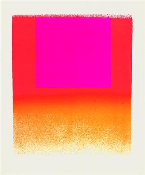 Leuchtrot orange - leuchtrot warm, 1965 - Rupprecht Geiger