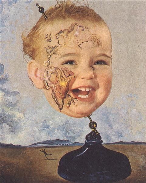 Baby Map of the World - Dali Salvador
