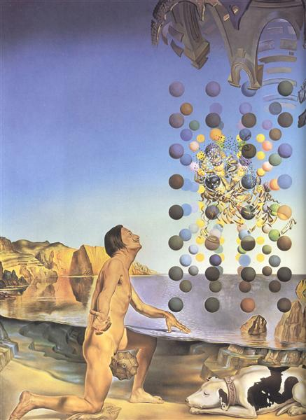Dali Nude, in Contemplation Before the Five Regular Bodies, 1954 - Salvador Dali