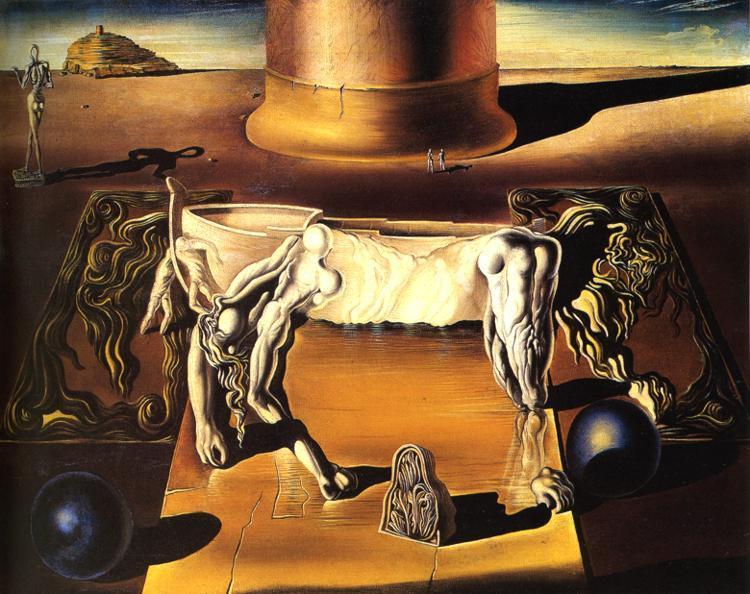 Paranoiac Woman-Horse (Invisible Sleeping Woman, Lion, Horse), 1930 - Salvador Dali