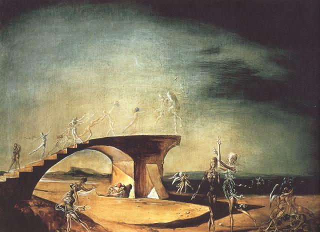The Broken Bridge and the Dream, 1945 - Salvador Dali