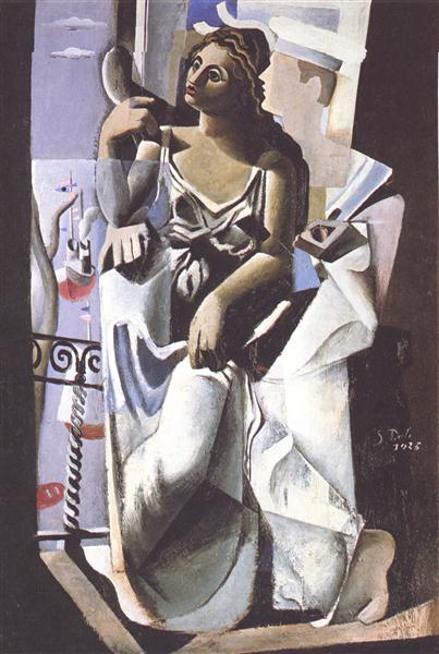 Venus and Sailor (Homage to Salvat-Papasseit), 1925 - Salvador Dali