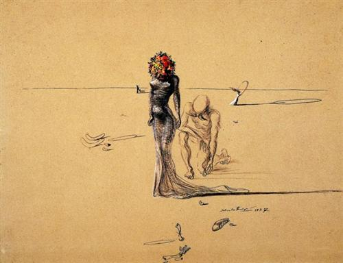 Woman with Flower Head - Salvador Dali