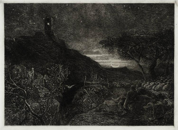 The Lonely Tower, 1879 - Samuel Palmer