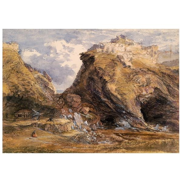 View at Tintagel, 1848 - Samuel Palmer