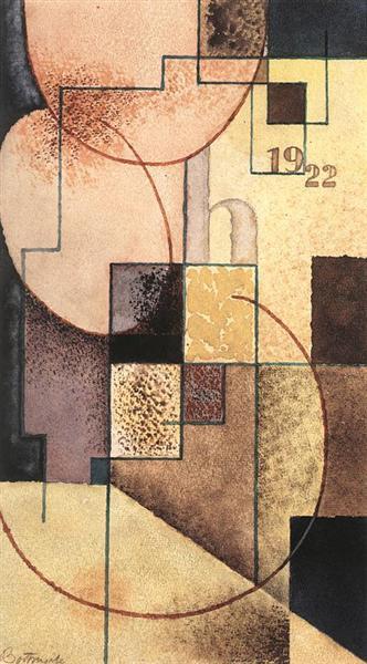 Geometrical Composition, 1922 - Sandor Bortnyik