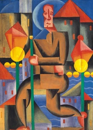 The Lamplighter, 1921 - Sandor Bortnyik