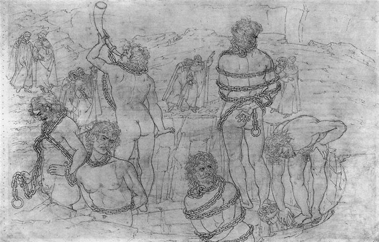Inferno, Canto XXXI, 1480 - Sandro Botticelli