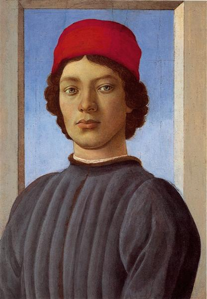 Portraitof a young manwith redcap, 1477 - Sandro Botticelli