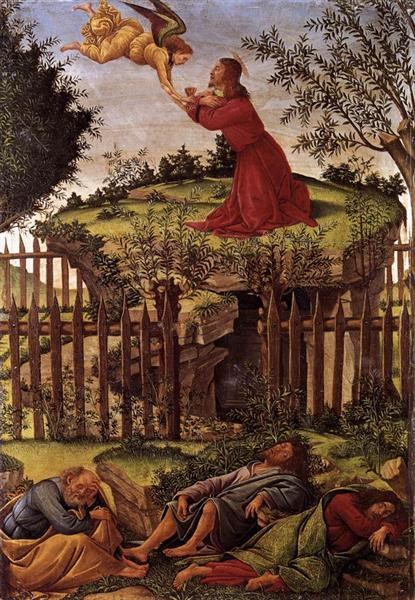 The Agony in the Garden, c.1500 - Sandro Botticelli